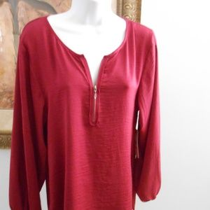 Designer Plum Red Blouse by Shelli Secal